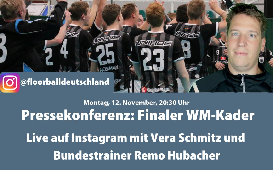 Live auf Instagram: Nationaltrainer Remo Hubacher gibt finalen WM-Kader bekannt
